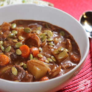 Chocolate & Port Beef Stew