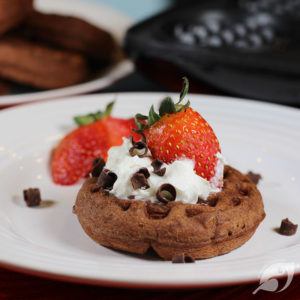Fudgy Chocolate Dessert Chaffles