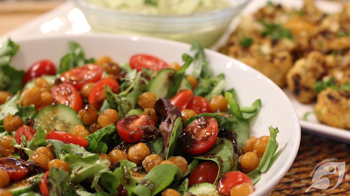 Roasted Chickpea Salad with Balsamic Dressing
