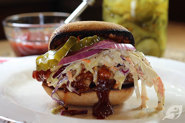 Gluten-Free Food: Closeup of BBQ Chicken Sandwiches