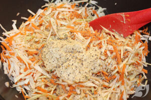 making Creamy Coleslaw step 4