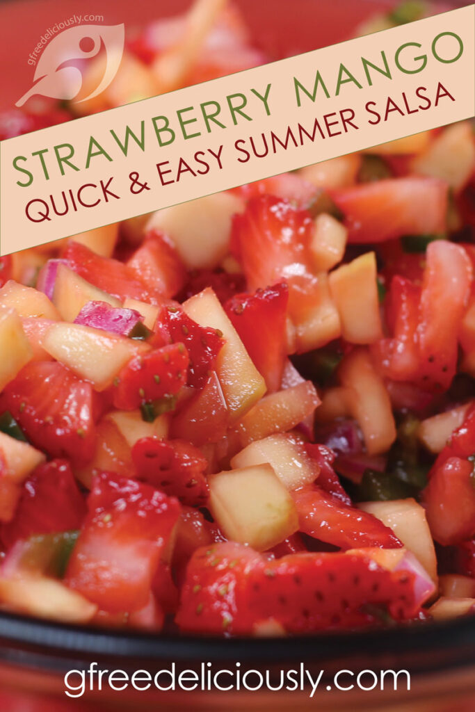 Strawberry Mango Summer Salsa Pinterest graphic