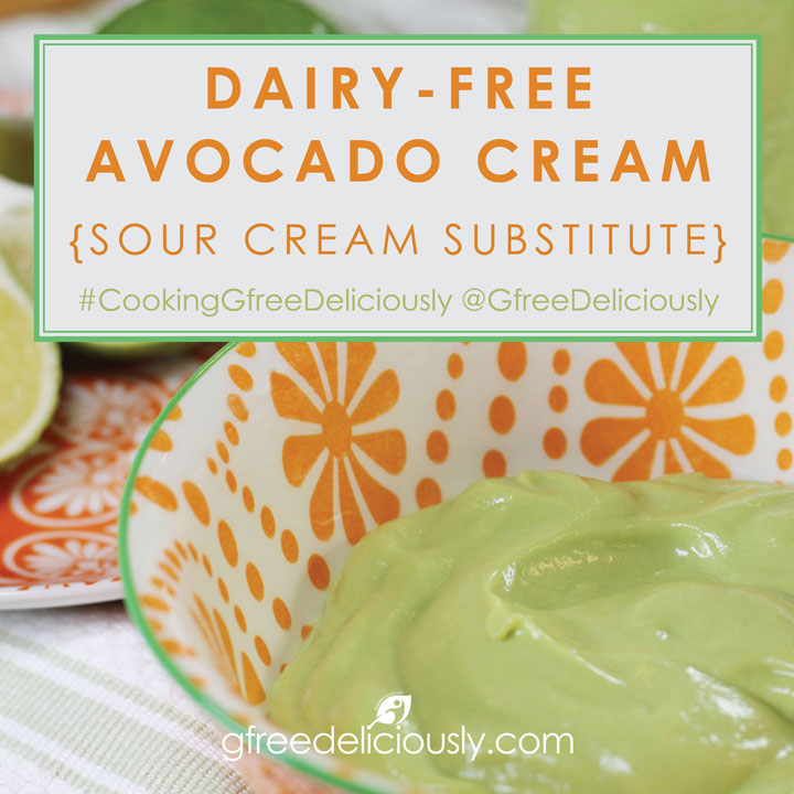 Dairy-Free Avocado Cream closeup social share image