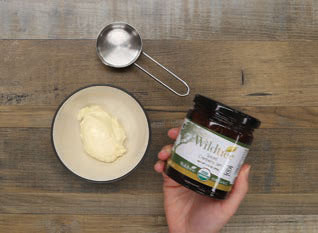 1/4 cup measure, mayonnaise and Spiced Cranberry Jam for making the mayo
