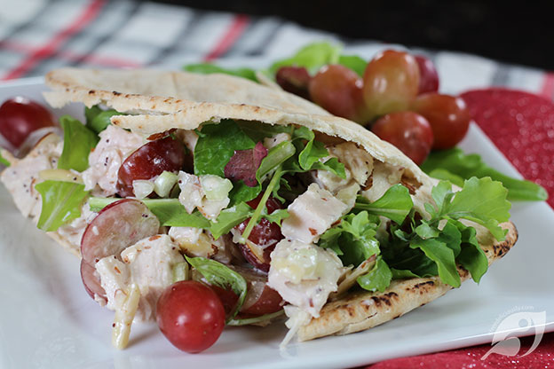 Cranberry Chicken (Turkey) Salad served in pita bread
