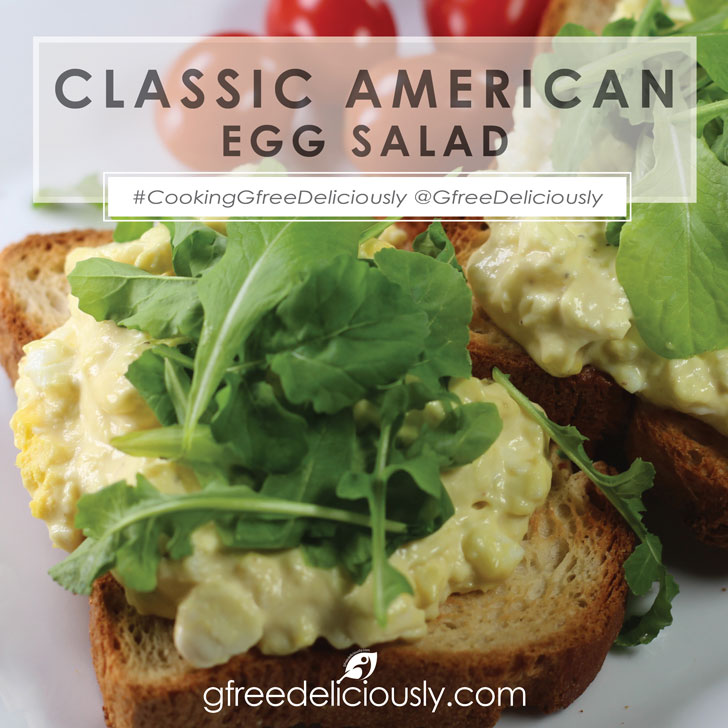 Egg salad on toast social share image 728x728px