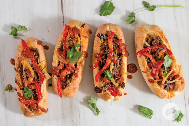 Four Mexican Cheese Steaks