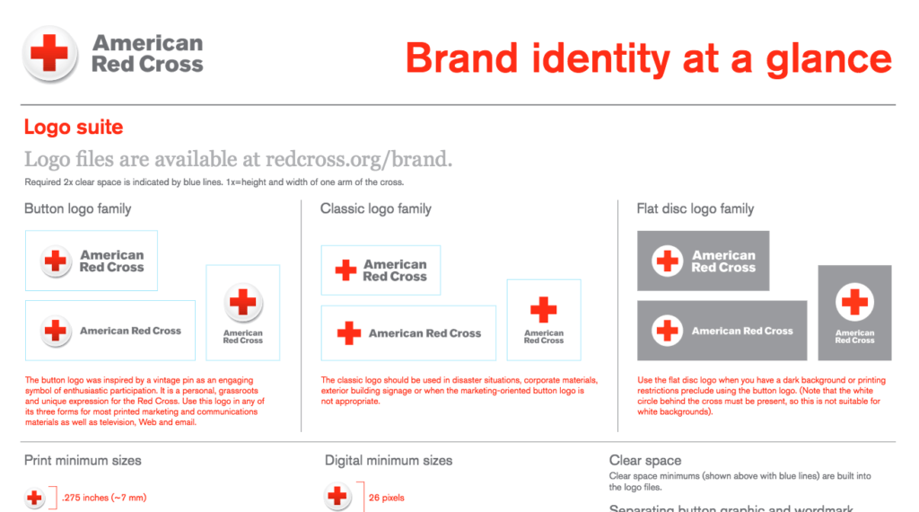 red cross brand guidelines