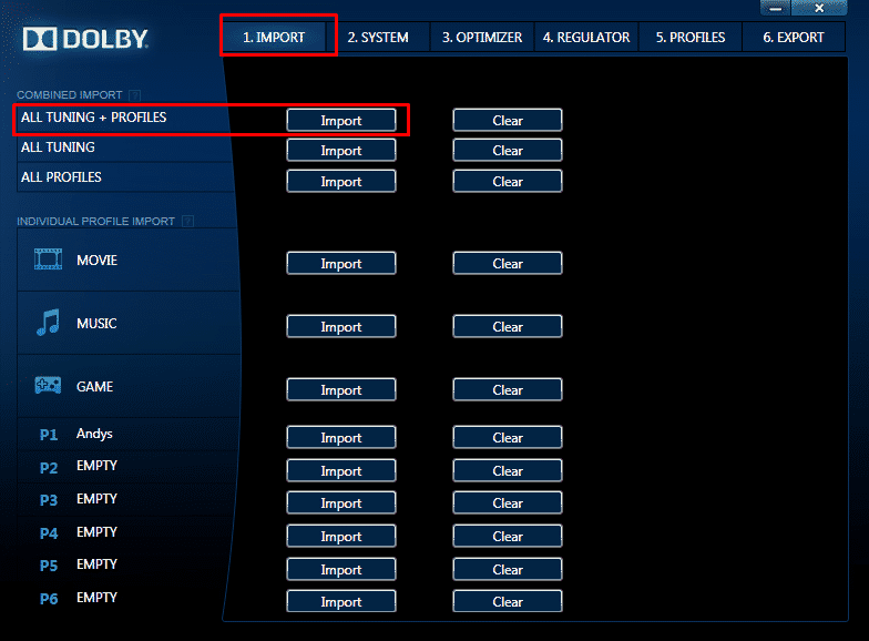 dolby-home-theater-profile-import
