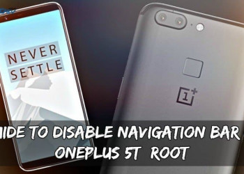 Guide To Disable Navigation Bar On OnePlus 5T (Root)