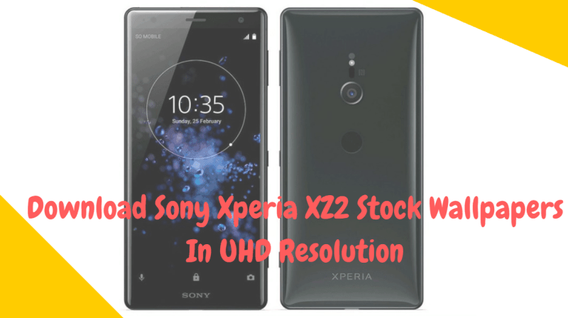 Download Sony Xperia XZ2 Stock Wallpapers