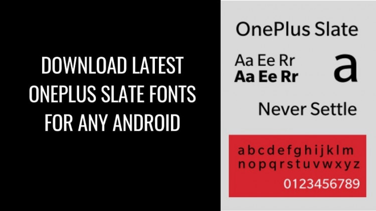 Latest OnePlus Slate Fonts