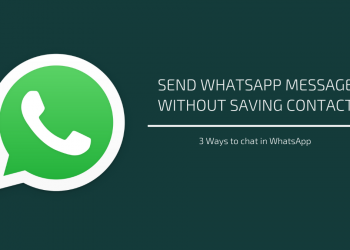 send WhatsApp messages without saving contacts