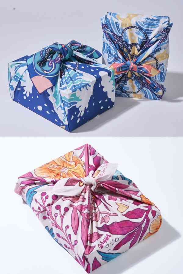 Reusable wrapping paper from Wrappr an easy swap for Plastic Free July from www.goingzerowaste.com