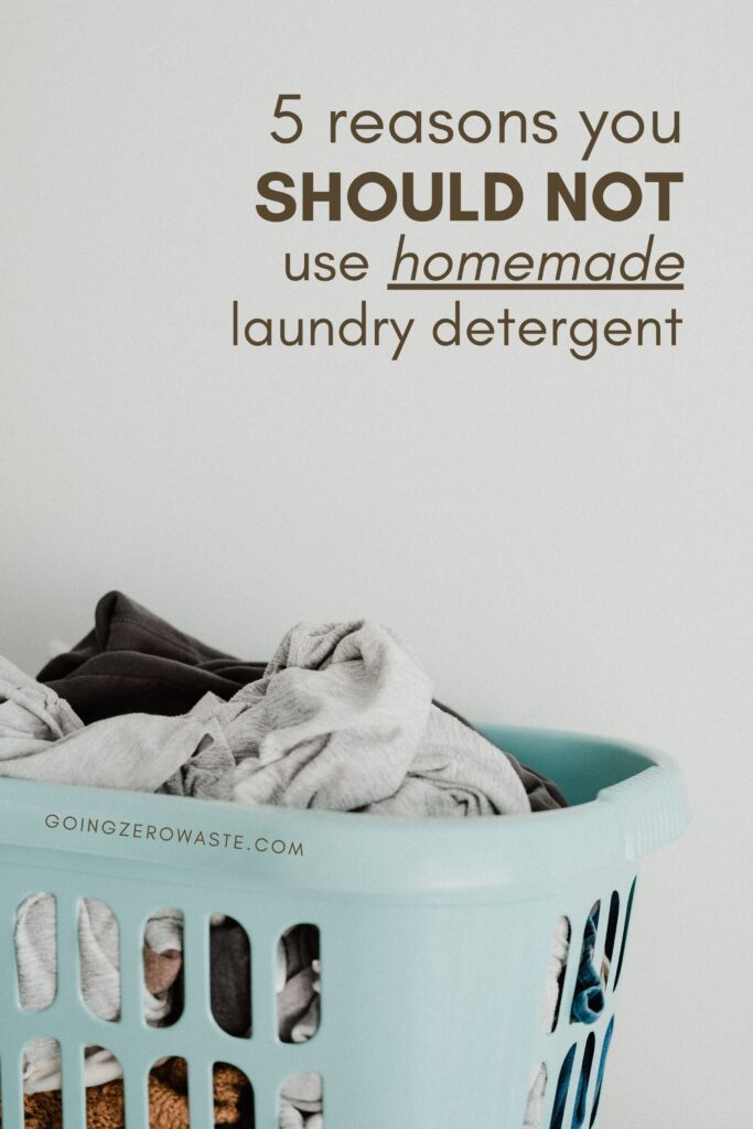 Why you should never DIY your laundry detergent from www.goingzerowaste.com #zerowaste #ecofriendly #gogreen #laundry #laundrydetergent #laundrysoap #DIY #homemadecleaningproducts #cleaning #cleaningcompanies