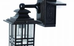 Outdoor Wall Lights with Receptacle