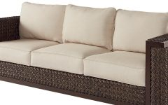 Astrid Wicker Patio Sofas with Cushions