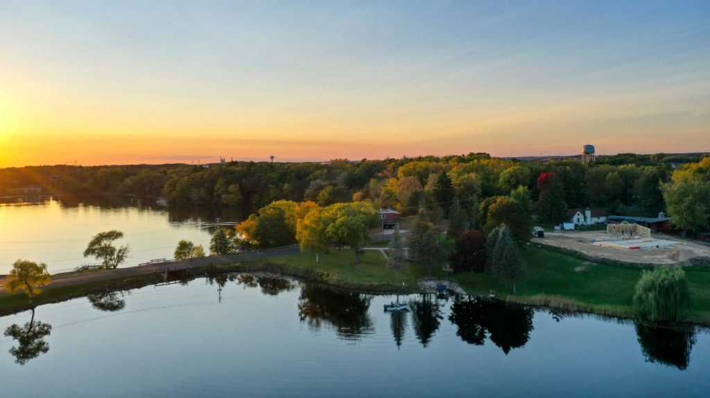 Silver Lake in Portage, Wisconsin