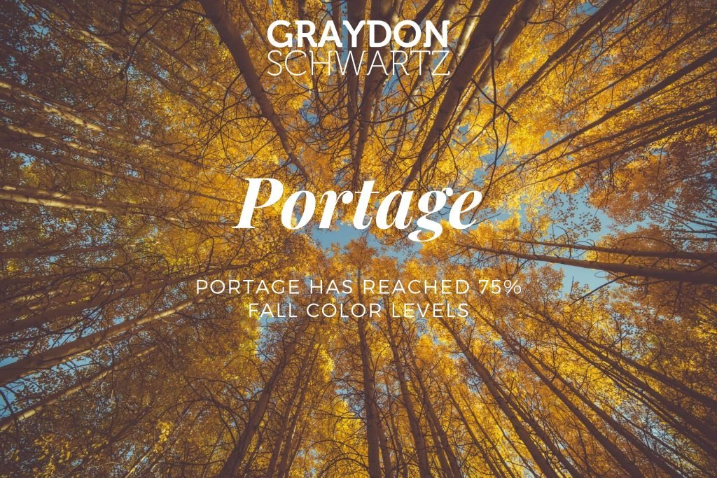 Portage Has Reached 75% Fall Color Levels