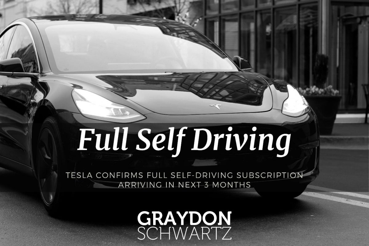 Tesla Confirms Full Self-Driving Subscription Arriving in Next 3 Months