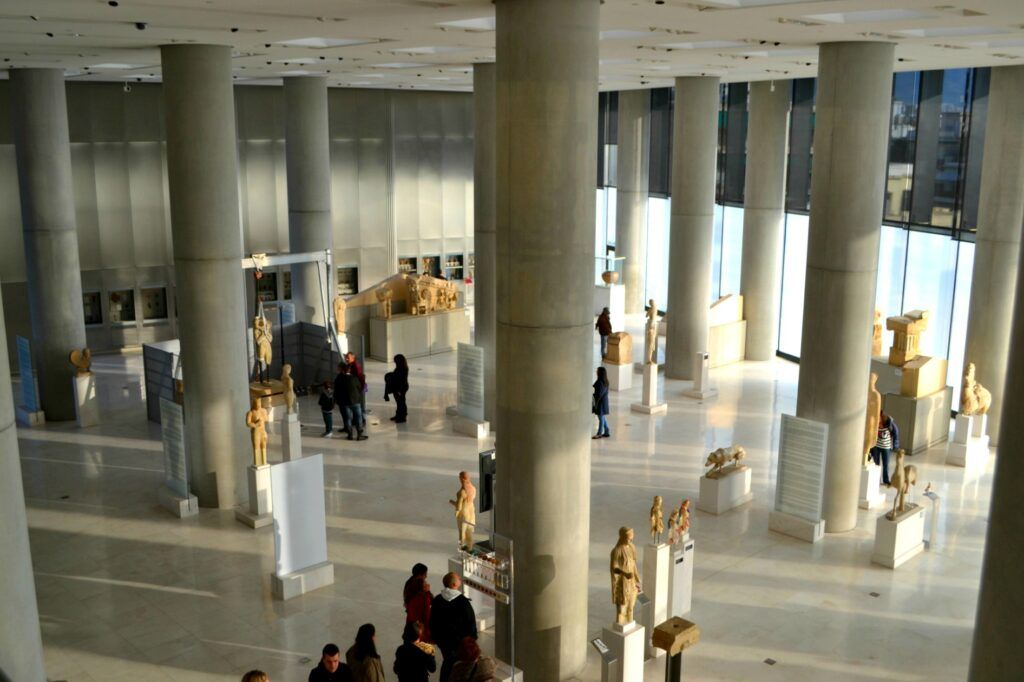 Acropolis museum sculptures, Athens, Greece