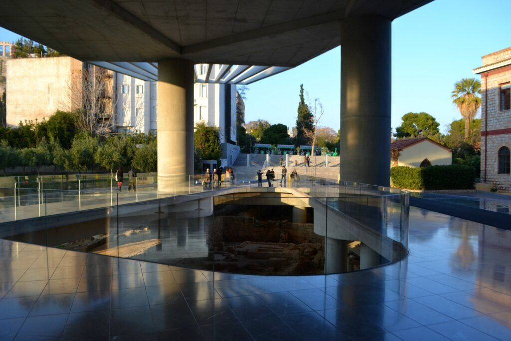 New Acropolis Museum- Entrance, Athens, Greece