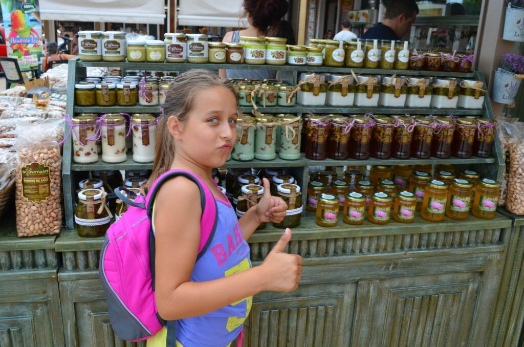 Day trip to Aegina with kids, traditional products-Day trip to Aegina with kids