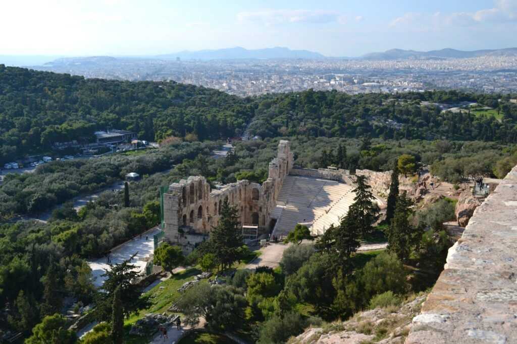 Herodeon, Athens, Greece-At the Acropolis of Athens