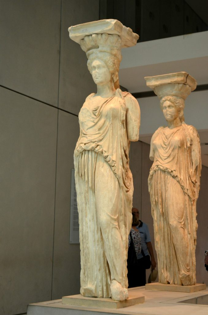 acropolis museum greece-karyatids, Athens, Greece