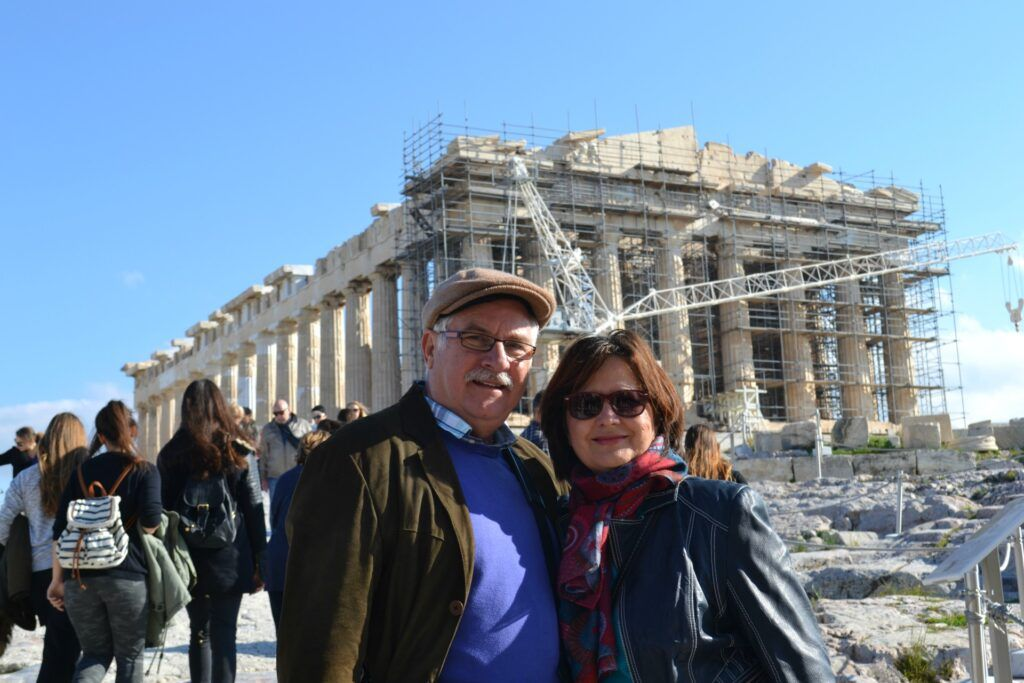 At the Acropolis-At the Acropolis of Athens