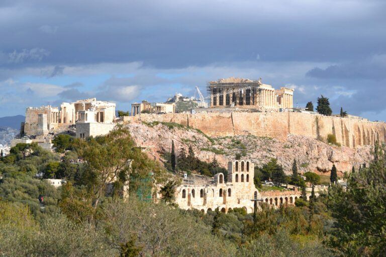 At the Acropolis of Athens, Greece