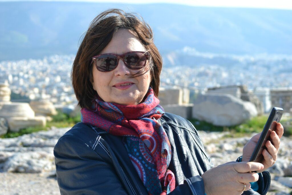 mama Maria, Greek Travel Family-At the Acropolis of Athens