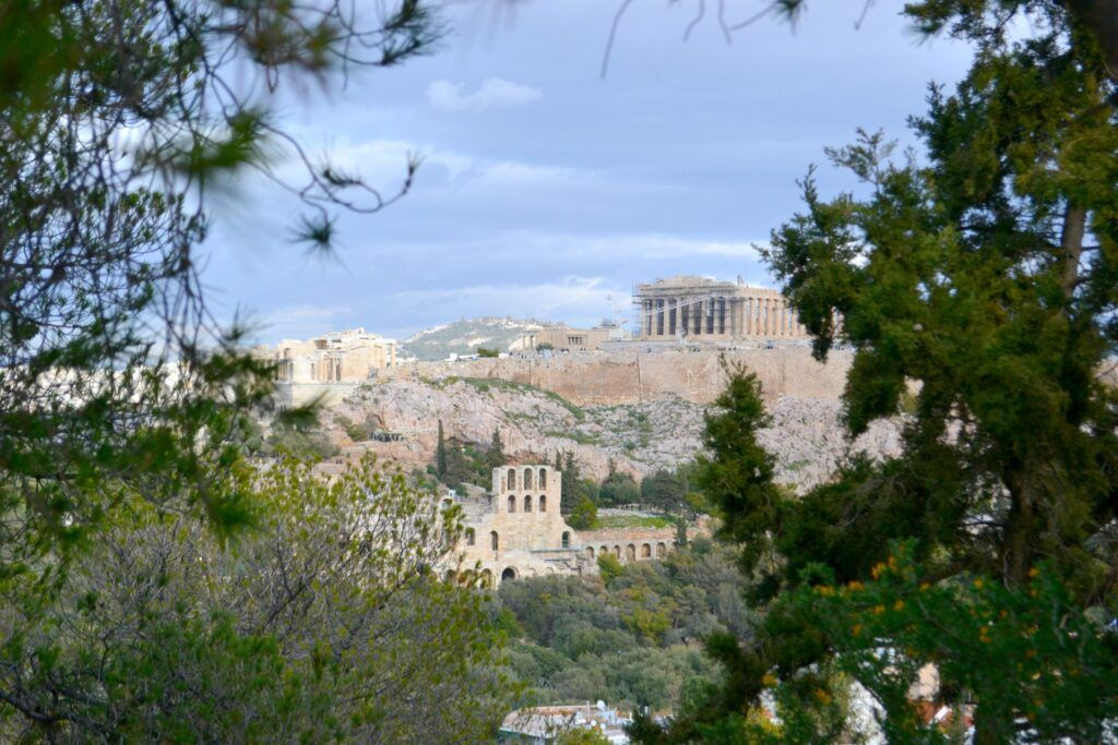 The Acropolis, Philopappou Hill, Athens, Greece