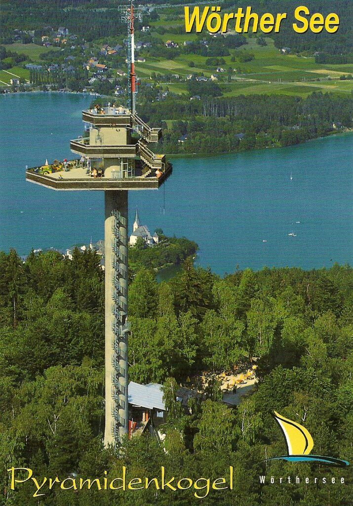 The Pyramidenkogel Observatory Tower in Austria