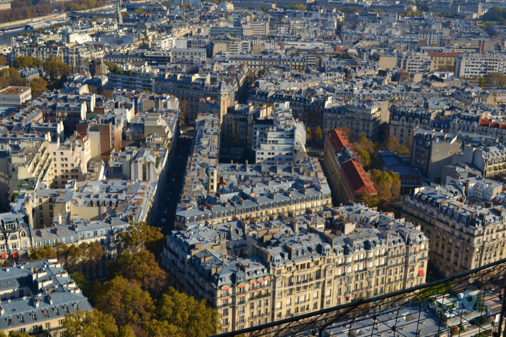 The view from the Eiffel Tower in Paris
