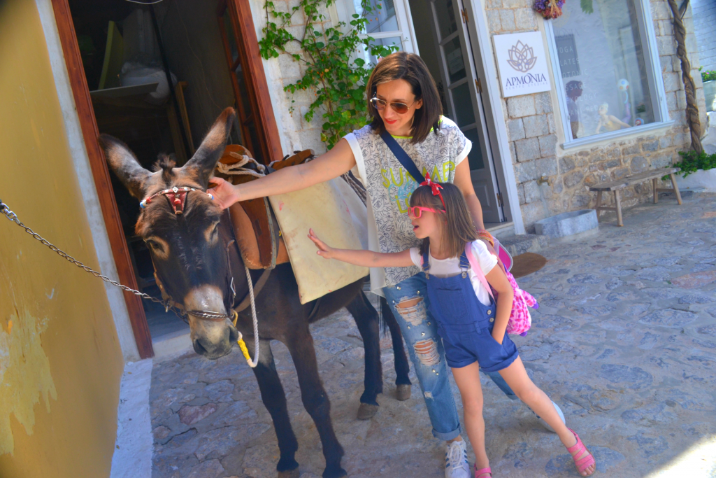 Family Holidays in Hydra with Kids. No cars, only donkeys