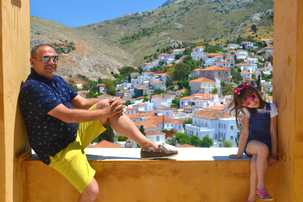 Family holidays in Hydra with kids.