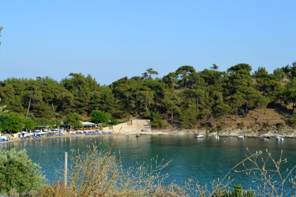 Vacations in Thasos, a green greek island, Alikes, Greece