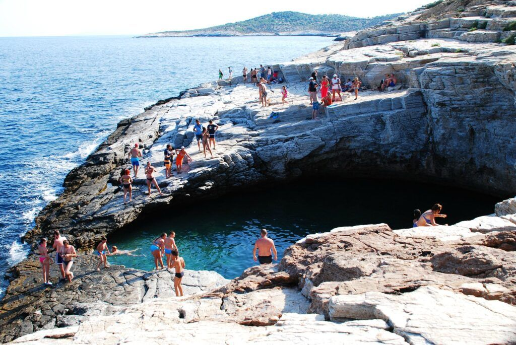 Vacations in Thasos, a green greek island, Giola, Greece