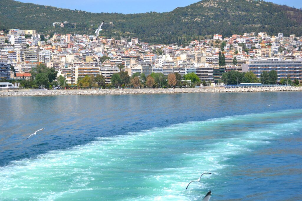 Vacations in Thasos, a green greek island, Kavala, Greece