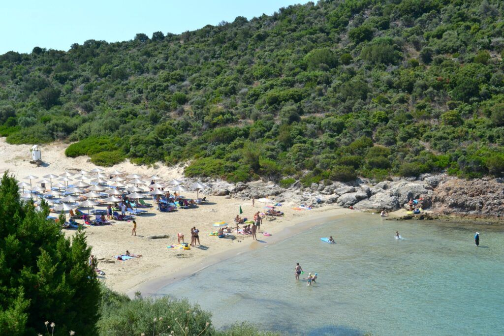 Vacations in Thasos, a green greek island, Maries Beach, Greece