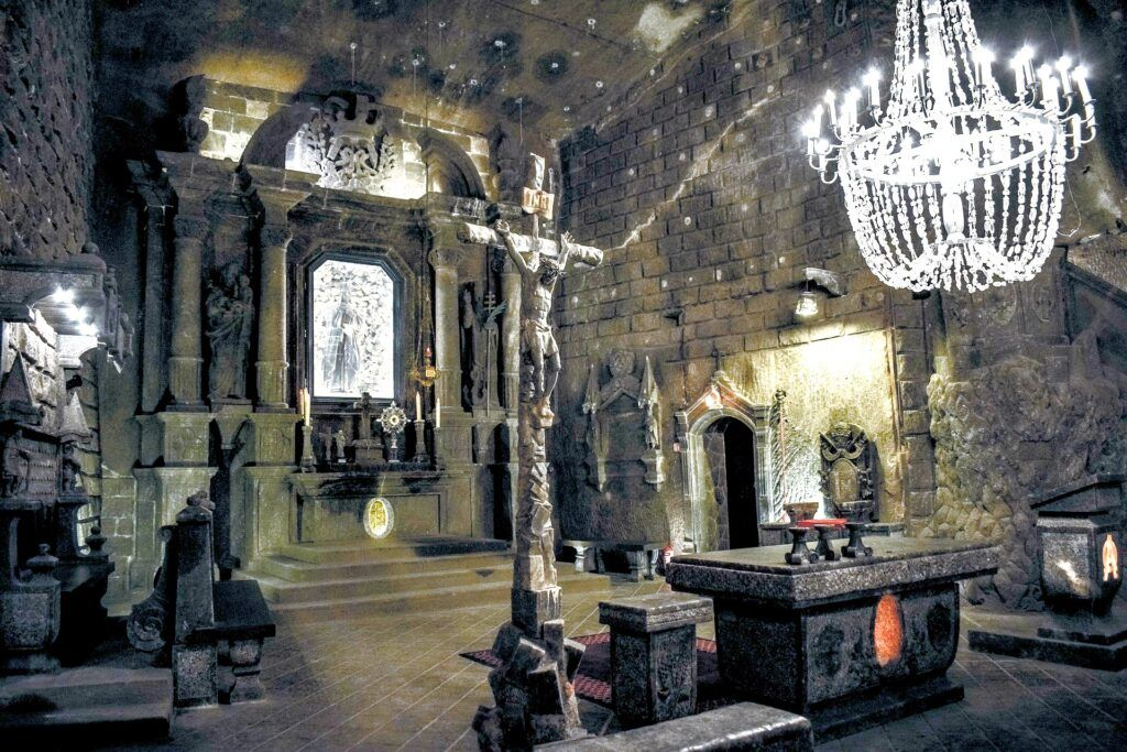 in the Wieliczka Salt Mine