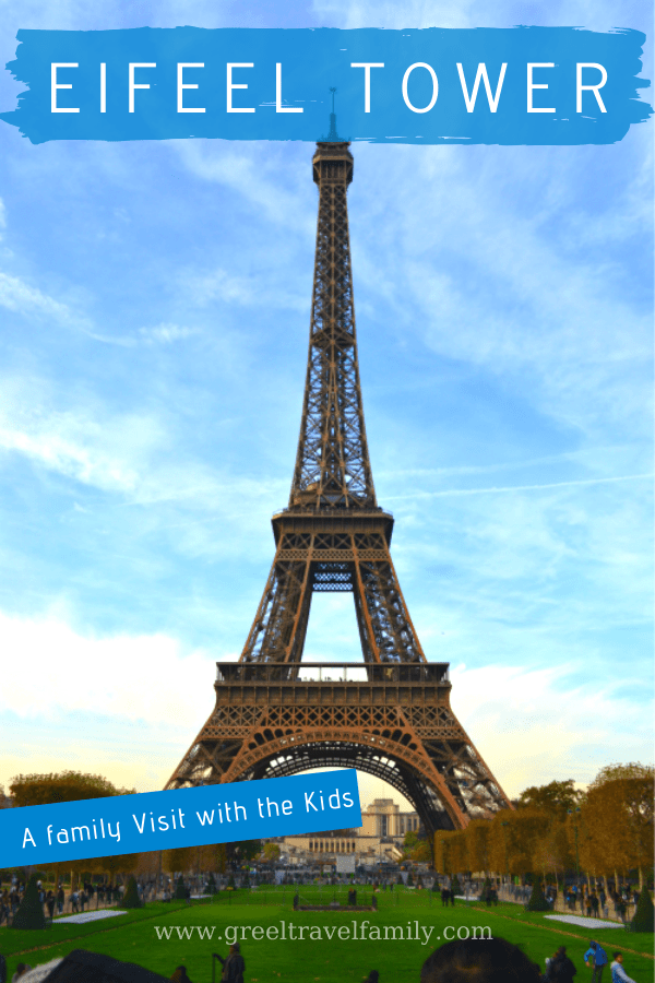 Visiting the Eiffel Tower in Paris with kids. How to buy tickets and where to take family pictures. Many interested information to learn and to teach kids