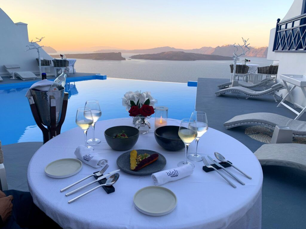 Alali restaurant, Santorini, Greece