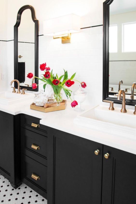 Wall Colors For Black And White Bathroom