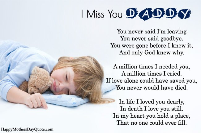 Miss You Dad Poems 5