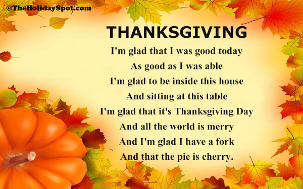 Twas The Night Before Thanksgiving Poems 7