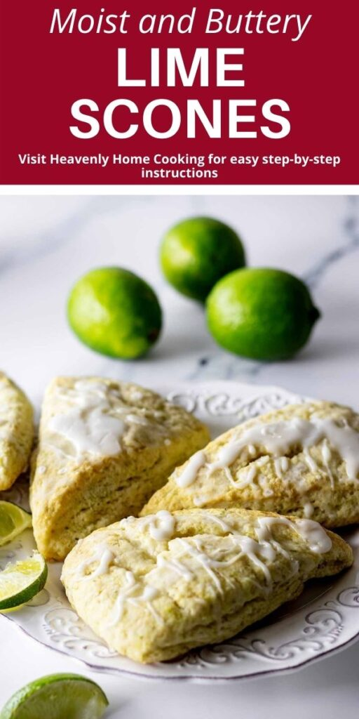Lime Scones on a white plate