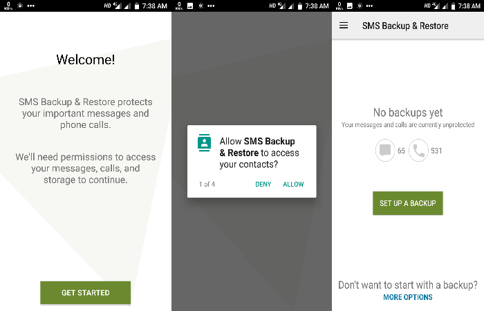 sms backup and restore in Hindi