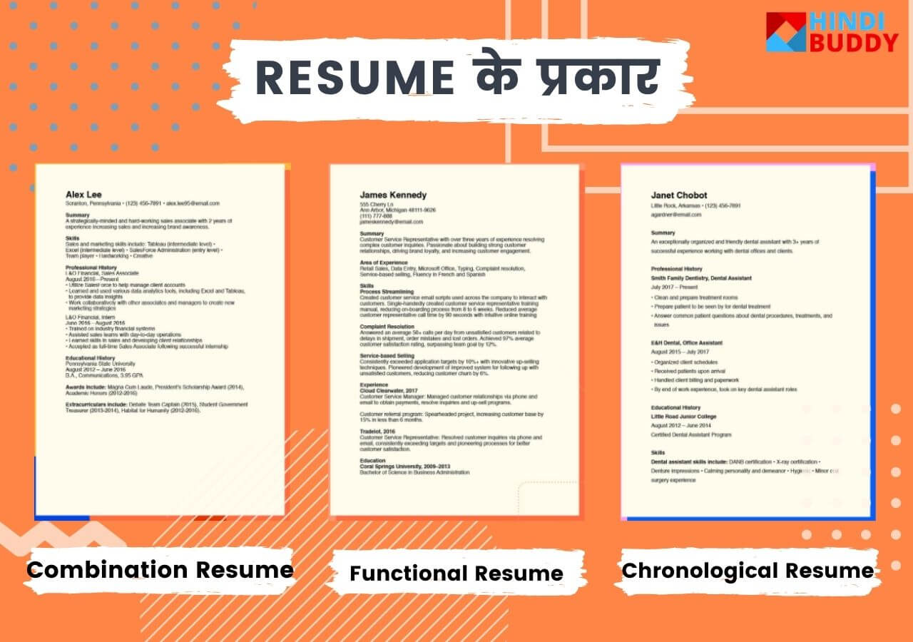 types of resume for job in hindi